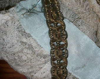 antique french gold metal trim