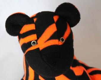 Neon Orange Plush Tiger