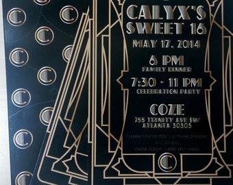 Great Gatsby Invitations