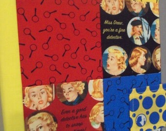 Get a Clue NANCY DREW fabric collage