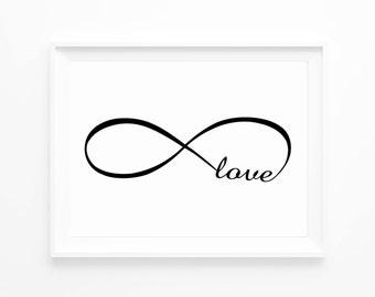 infinite love print love print home decoration ideas. Black Bedroom Furniture Sets. Home Design Ideas