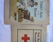vintage FIRST AID booklets - Sick Room Necessities