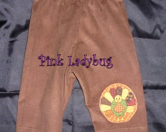 Infant Thanksgiving/Fall Corduroy Pants - Size 6-9 Mos. READY TO SHIP