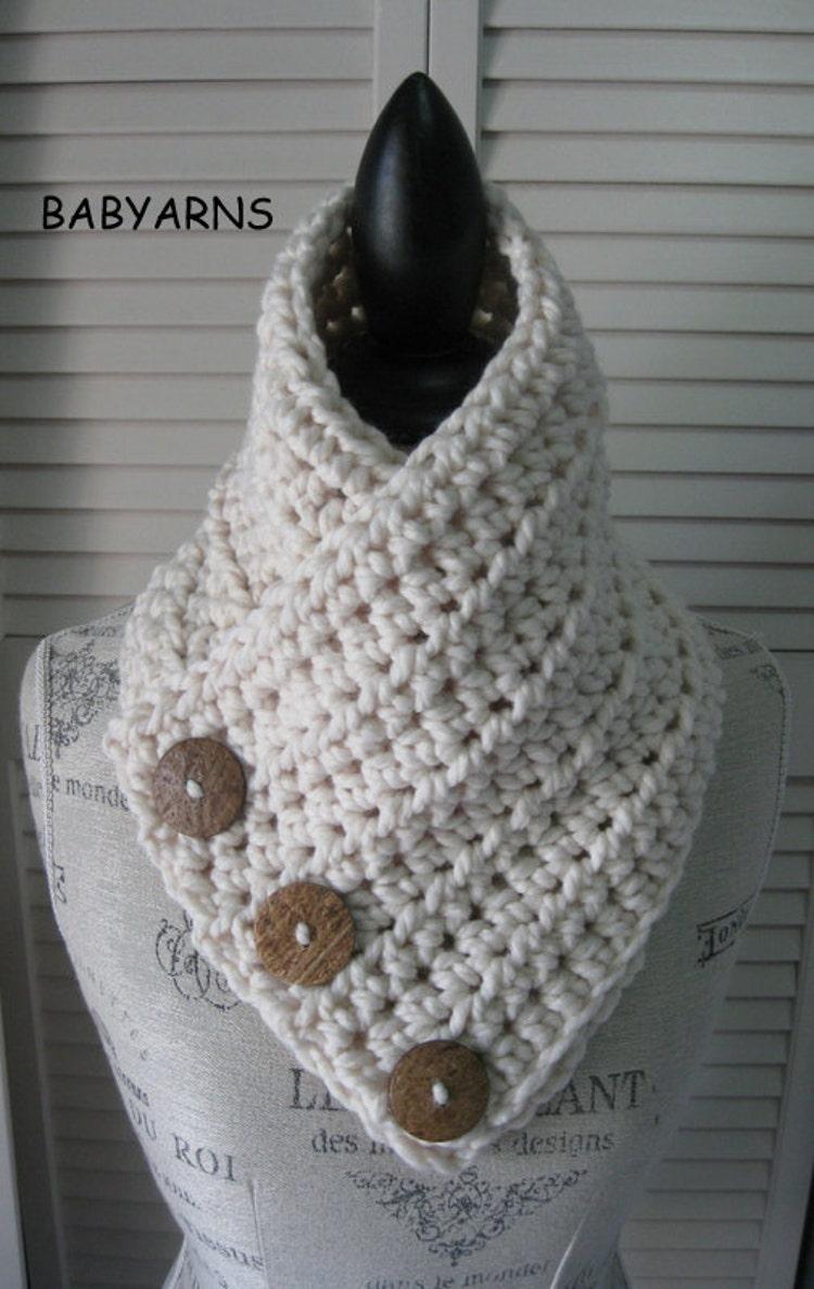 Original boston scarf cowl wrap neckwarmer 3button by - Tejidos y novedades paredes ...