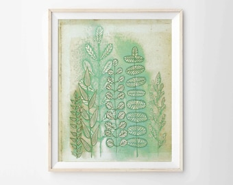 "Art Print - Woodland Ferns 8""x10"" - Archival Print"