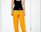 Vintage Bright Yellow Silk Costume Parachute HAREM Pants