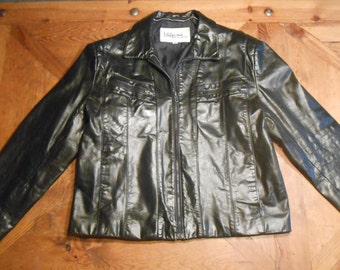 Wilson Leather Jacket, Mens, Vintage, Size 44, coat 6 pockets