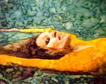 Floating - Watercolour Print