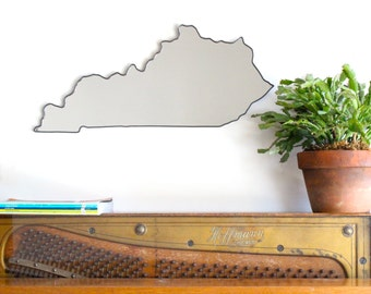 Kentucky Mirror / Wall Mirror State Outline Silhouette KY Lexington Louisville Derby Art Shape University Of Wildcats