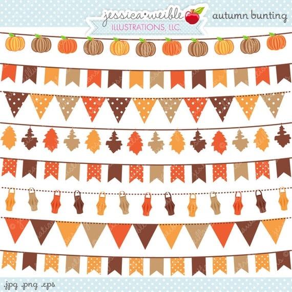 Autumn Bunting Cute Digital Clipart Commercial Use OK