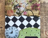 Note To Self  A Blank Mixed Media  Art Greeting Card