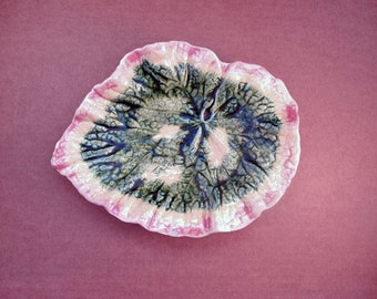 Majolica Begonia Etruscan Plate 9 inch