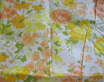Vintage Floral Fabric , Flowers, 100% Cotton