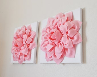 Pink Wall Art nursery flower wall decor dahlia wall art 12 x