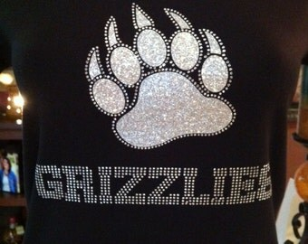 Grizzlies with Paw Rhinestone Heat Transfer DIY