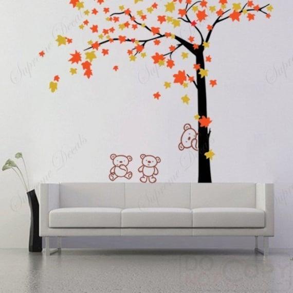 """custom for Tinnon82 - Autumn Tree and Bears(71""""H)"""