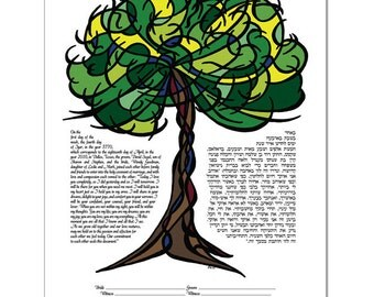 Ketubah: Tree of Life - Summer