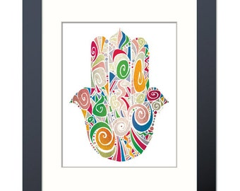 Palm of Promise (Hamsa) II Fine Art Print
