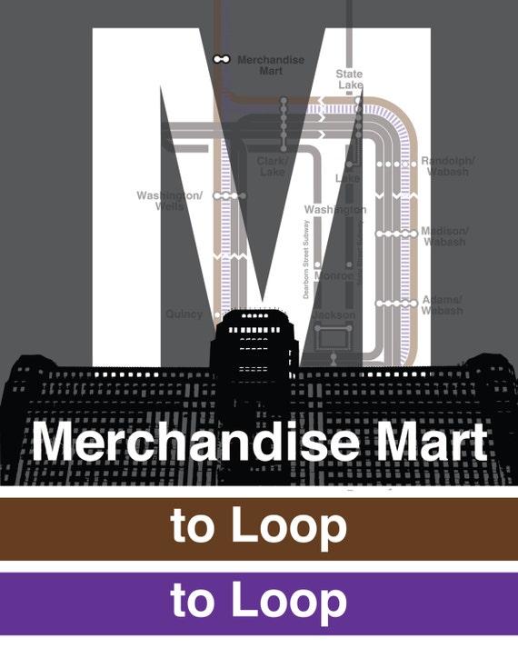 Cta l stop sign merchandise mart brown purple lines sciox Gallery