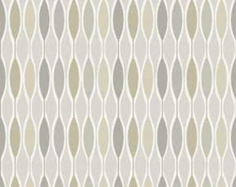 Classical Elements By P&B Textiles - Modern Geometric Neutral Tan, Taupe, Gray and White Quilt Fabric Geometric
