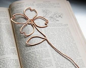 copper dogwood flower bookmark