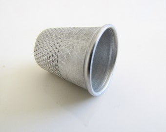 Antique Silver Metal Thimble Vintage Sewing Notion