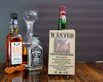 Customizable Will you be my groomsman bottle tag