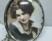 Victorian Ladies Vintage Portrait Domed Glass Necklace Pendant- Super  UNIQUE-Several Choices of Picture  Available