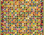 "MOSAIC KALEIDOSCOPE - 98"" - Quilt-Addicts Pre-cut Patchwork Quilt Kit or Finished Quilt King size"