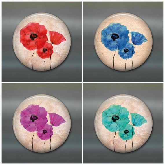 Items Similar To 3 5 Poppy Fridge Magnet Poppy Flower Magnet Poppies Decor Kitchen Decor