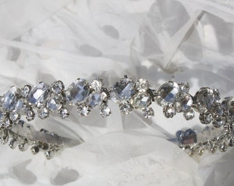 Bridal headband-Wedding Headpiece-Crystal Headband- Wedding Headband- Rhinestone Headband