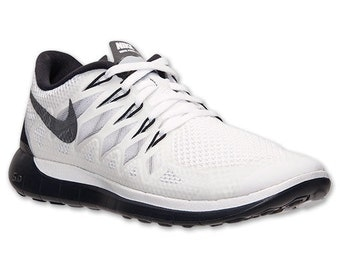 Nike Free 5.0 2014 Women's Running Shoes - White / Black
