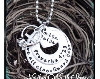 Personalized Hand Stamped Purity necklace