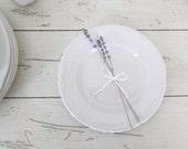 Ironstone Plates Vintage White Dishes Pflatzgraff Filigree Pattern Wedding Dessert Bar