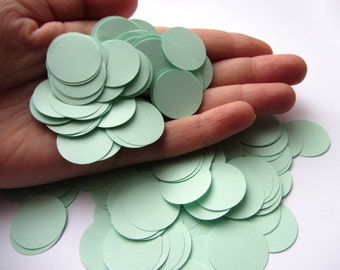 Mint Green Paper Circle Confetti, Wedding Confetti Baby shower confetti Party Events Decorations