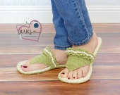 Crochet PATTERN Women's Tranquil Slippers (3 sizes included) INSTANT download
