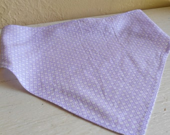 Lavender And White Floral Pattern On  Girls Head Scarf