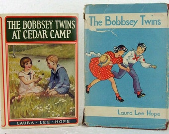Antique Vintage Children's Books The Bobbsey Twins with Dust Jackets Baby Nursery Decor ATCTTEAM
