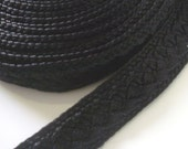 Reserved for SZ Osborne - Moroccan trim, black , woven  1 metres