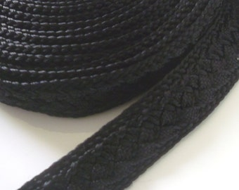 Moroccan trim, black , woven 5 metres