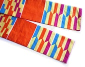 Colorful African Head Scarf, Orange Yellow Blue African Head Scarf, African Head Wraps, Ethnic Head Scarf