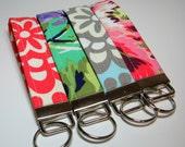 Handmade Fabric Wristlet Key Fob - Personalization Available - Amy Butler Fabrics - Soft Style