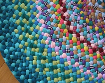 Made To Order Custom Colorful Rug/Carpet from recyled fabrics by mrsginther-your color choices