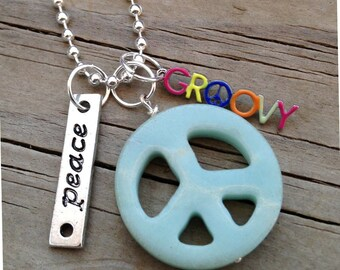 Groovy Amazonite Peace Necklace