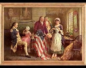 Independence Day Miniature Dollhouse Art Picture 1173