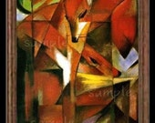 Abstract Fox Miniature Dollhouse Art Picture 6226