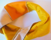 Felt Colorblock Infinity Scarf--Shades of Gold