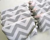 Personalized Bridesmaid Wristlet featuring Premier Prints Chevron Pattern