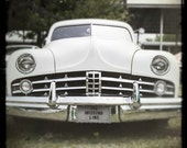 White Car Photo, Lincoln Classic Car, Car Photography, Hot Rods, Automobiles, 8 x 8 Print, Fathers Day, Gift For him, Man Cave Art, Retro