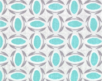 Geometric in Patina (Gray and Aqua) from the Modern Roses Collection, by Moda